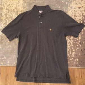 Grey brooks brothers polo